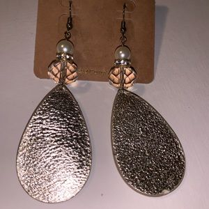 Jewelry - Gold Leather Cowgirl Earrings